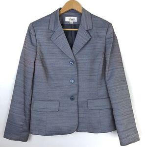 Le Suit Women's Woven Blazer Gray Size 12